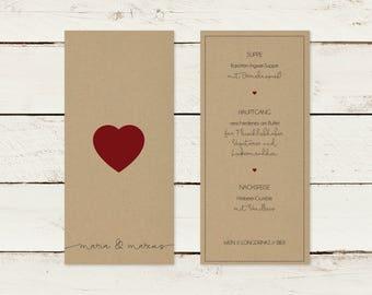 Menu card | Kraft paper | DIN long