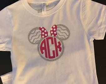 Disney Tee, Monogrammed Disney Shirt, Cute Girl's Shirt