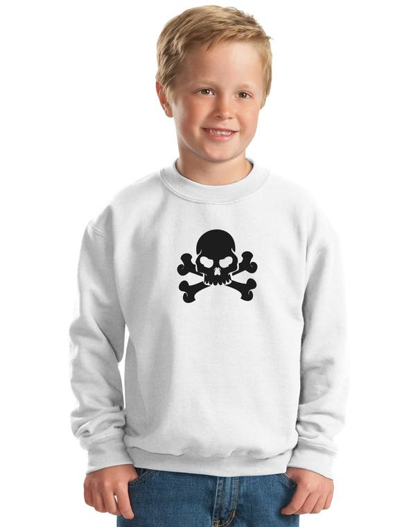 Girl sweater GLITTER SKULLS