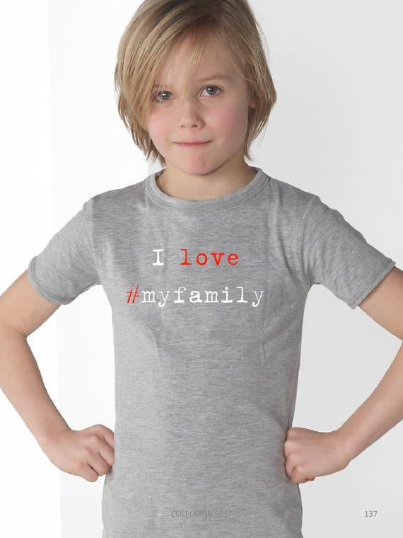 Boy t-shirt I LOVE #MYFAMILY
