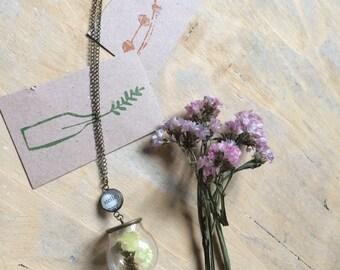 """Long Necklace """"Solobelleparole"""" with Flower Boule"""