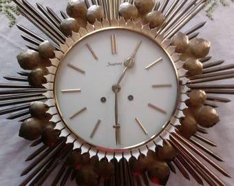 """SALE!! German Made """"Junghans"""" Starburst Wall Clock"""