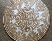 Crystal Grid - Mandala Crystal Grid - 3, 6, 9  or 12 Inches - Wooden Crystal Grid - Sacred Geometry