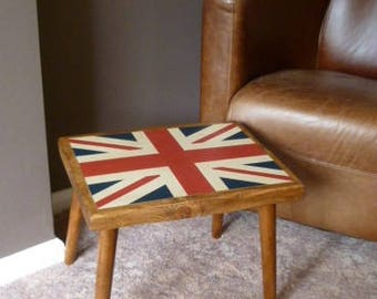 Small End Table with hand painted Union Jack Design.