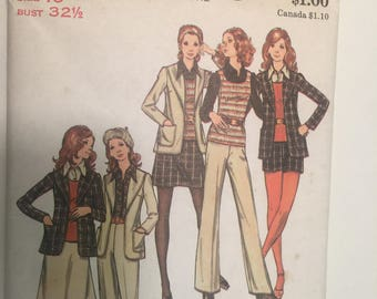 Misses 6-8-10 Jacket, Skirt, Pants, Shorts, Top.  Butterick #6508 sew pattern