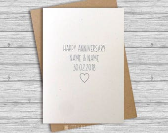 Happy Anniversary Personalised Greetings Card