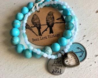Love Anchors the Soul Beaded Bracelet