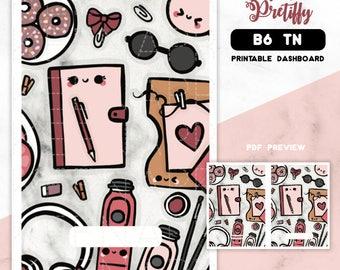 Plan & Prettify [B6 size] Printable Dashboard - Digital Art, Planner Printable, Planner Dashboard Decoration