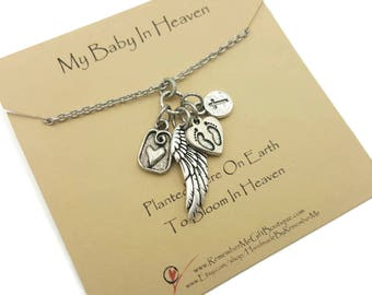 Loss of Baby or Child, Memorial Jewelry, Keepsake in Remembrance of Son or Daughter, Memorial Necklace, My Baby In Heaven, Bloom In Heaven