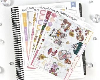 Eat Slay Love Deluxe Weekly Planner Kit | 250+ Stickers | Planner Stickers | For Erin Condren LifePlanner