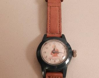 vintage walt disney productions davy crocket original watch runs 1950's