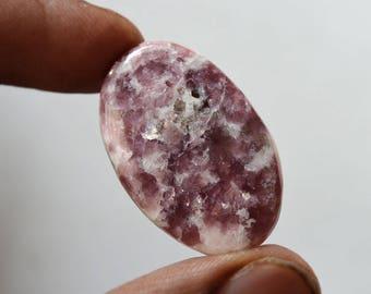 Lepidolite Gemstone Cabochon 25 Cts Natural Designer Lepidolite Oval Shape 31x20x4 MM R14318