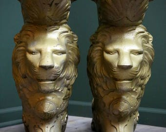 1880's Brunswick Monarch Pool Table Cast Iron Base Lion Head Industrial Table Legs Claw Feet Antique Vintage Ornate Rare Home Decor Empire