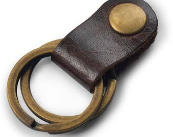 2 X Leather Earphone Cord Organizer Wrap Winder Holder Cable Organizer Earphone Holder Headphone Holder Leather Cord Keeper iPhone