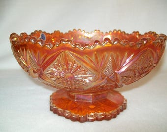 HTF Imperial Glass Carnival Glass Bowl Marigold