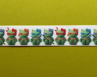 Hello Kitty Ninja Turtles inspired 7/8 22 mm Grosgrain ribbon