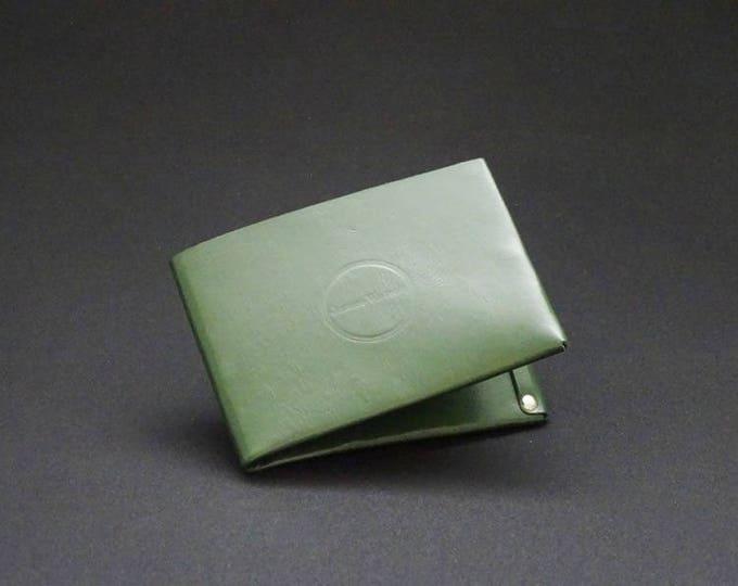 6Pocket Wallet - Green - Kangaroo leather with RFID credit card blocking - Handmade - Mens/Womens - James Watson