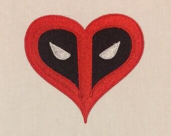 Deadpool heart 4x4 AND 2x2
