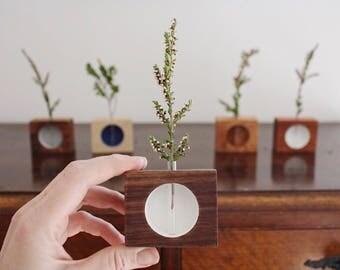 Handmade vase, minimalist, wooden vase, reclaimed wood, minimal, desk vase,