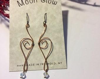 Copper Wire Earrings
