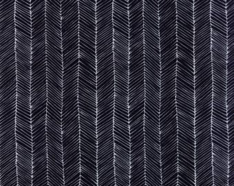 Catnip- Kitten Lines- Black- Gingiber- Moda Fabrics