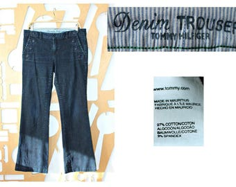 Designer jeans Sailor pants Wide leg pants Denim pants Tommy Hilfiger Casual wear Bell bottom Hipster Boho Hippie Steampunk Denim trousers