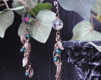 """""""Ancient Nature ornaments"""" - Green earrings"""