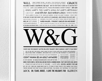WILL & GRACE Typography Print