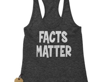 Facts Matter Science Racerback Tank Top for Women