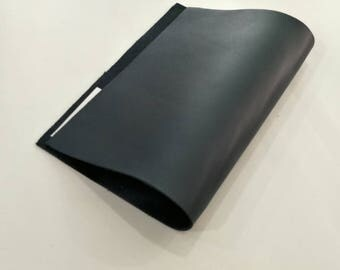 "Leather Scrap, Genuine Leather, Leather Pieces, Navy Blue, Size 8.25"" by 11.5""  Leather Scrap for DIY Projects."