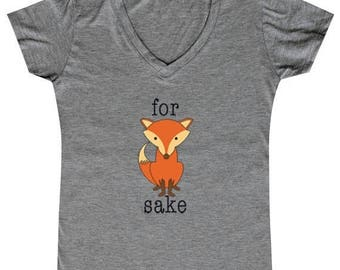 ON SALE - For Fox Sake - Ladies' V-neck