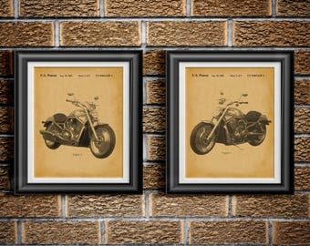 Harley Davidson Wall Decor motorcycle wall art | etsy