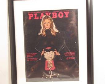 Vintage Playboy Magazine Cover Matted Framed : November 1972 -  Pamela Rawlings