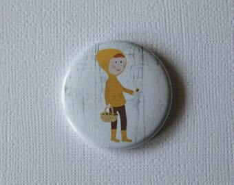 Picker weather fall - flat Badge or PIN or magnet