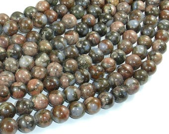 Rhyodacite Beads, 8mm(8.5mm) Round Beads, 15.5 Inch, Full strand, Approx 47 beads, Hole 1mm (389054002)