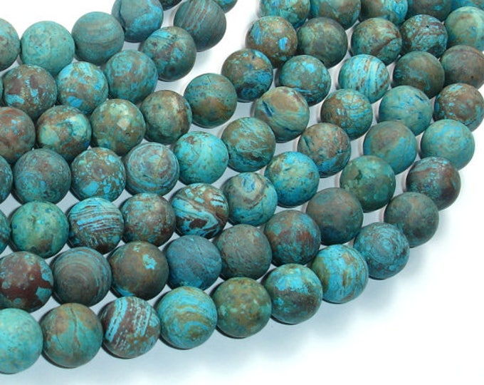 Matte Blue Calsilica Jasper Beads, 10mm(10.2mm) Round Beads, 15.5 Inch, Full strand, Approx 39 beads, Hole 1mm(496054009)