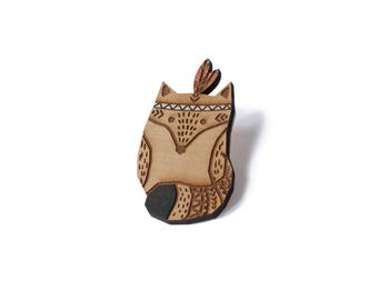 SIOUX BEW Fox brooch