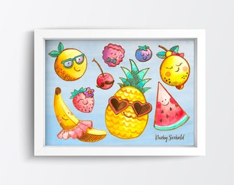 Fruit Salad - 7x5 // Darby Scebold  // Hand Illustrated