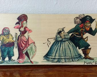 Pirates of the Caribbean Auction - Handmade Wooden Sign