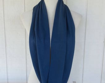 Infinity Scarf - Scarves - Accessories - Blue Scarf - Scarf - Loop Scarves -  Scarf - Organic Cotton Scarf