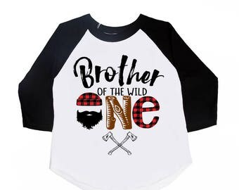 Brother of the Wild One - Brother of the - Brother Birthday Shirts - Boys' Shirts - Boys' Birthday Shirts - Big Brother Shirts - Little Bro