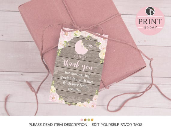 Etsy Australia Baby Gifts : Baby shower favor tag gift tags girl
