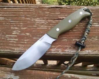 Handmade ST-4 fixed blade survival knife in O1 steel