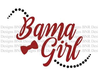 Bama Girl SVG, Alabama SVG, DXF File, Cricut File, Silhouette File, Cameo File