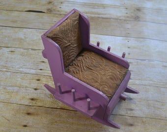 Antique sewing chair pin cushion