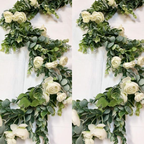 Wedding centerpieces garland greenery arbor
