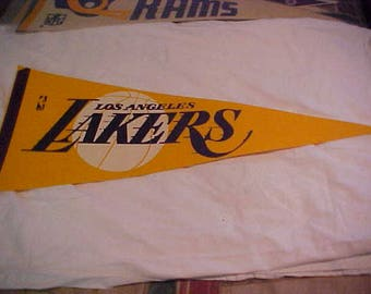 1960's Los Angeles Lakers vintage full size basketball pennant