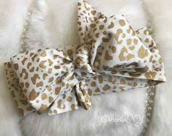 CHEETAH Headwrap, Fabric Headwrap, Baby Headwrap, Toddler Headwrap, Bow Headwrap, leopard headwrap, Newborn Headwrap, Turban Headwrap