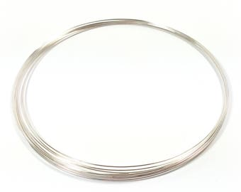 20 rounds necklace 110 mm clear silver tone memory wire