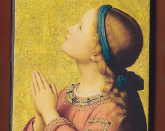 Franz Ittenbach. Germany (1813 - 1879) The Virgin Mary.FREE SHIPPING